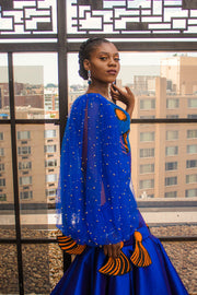 The African Print Makeda Dress - Moh B. Couture
