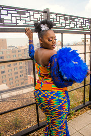 THE African Print BALLROOM SAVAGE DRESS - Moh B. Couture