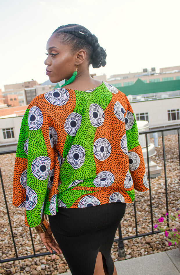 The African Print Awa Top - Moh B. Couture