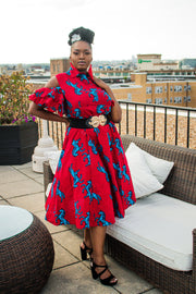 The African Print Juliet Dress - Moh B. Couture