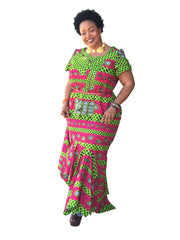 The Maureen African Print Skirt Set - Moh B. Couture