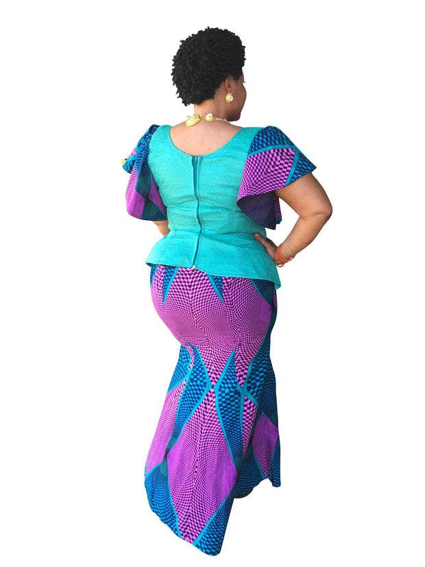 The Nancy African Print Skirt Set - Moh B. Couture