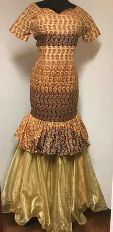 The Sandy Flared African Dress - Moh B. Couture