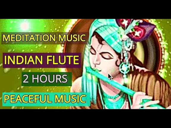 Indian Meditation Music /Lord Krishna Flute/RELAX MIND BODY/ Yoga Music