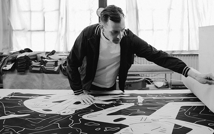 "Introducing The Modernica x Cleon Peterson Furniture Series Featuring ""Land Of Shadows"" Artwork"