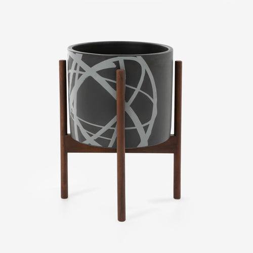FUTURA2000 x Modernica Case Study® Ceramics Atomic Motif Small Cylinder with Stand