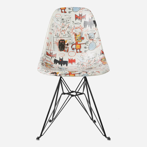 Jean-Michel Basquiat Case Study Furniture® Side Shell Eiffel Chair - Bats