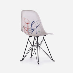 Futura Laboratories x Alchemist Art Cafe Case Study Furniture® Side Shell Eiffel Chair - Art Basel Exclusive