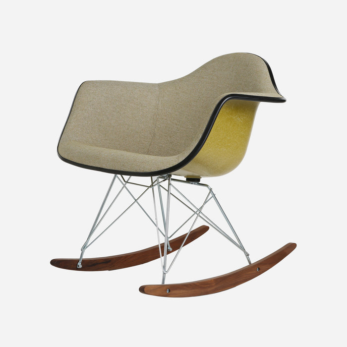 Case Study Furniture® Upholstered Arm Shell Rocker - Kensington with Pickle