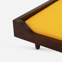 Case Study® Solid Wood Pet Daybed - Small - Canvas Sunflower