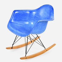 Maple Rocker - Black Wire Royal Blue