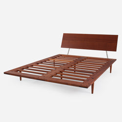Case Study® Furniture Solid Wood Fastback Bed & Lief Mattress Set