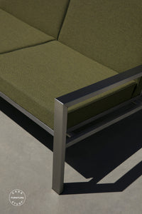case-study®-stainless-loveseat-upholstered