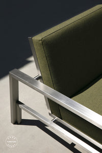 Case Study® Stainless Lounge Chair - Upholstered