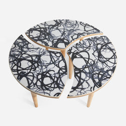 FUTURA2000 x Modernica 3-Piece Magnetic Coffee Table Limited to 50