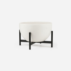 Ceramic White Metal Stand
