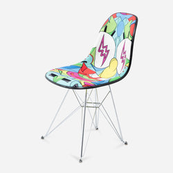 Modernica x SpongeBob x Louis De Guzman x J Balvin Case Study Furniture® Side Shell Eiffel Upholstered Chair - Multi Color