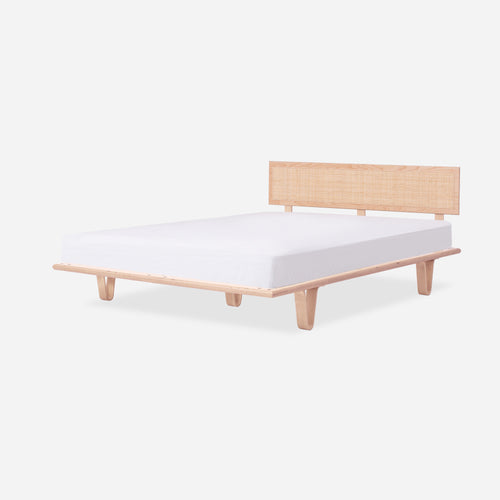 Case Study® Furniture Bentwood Bed with Cane Headboard & Lief Mattress Set