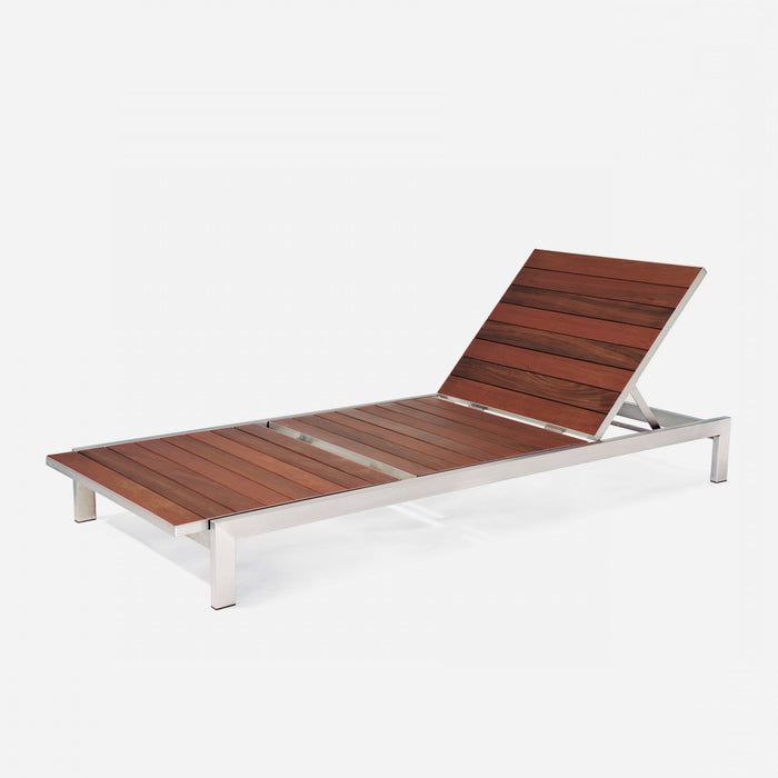 Case Study Furniture® Stainless Chaise - Brazilian Walnut