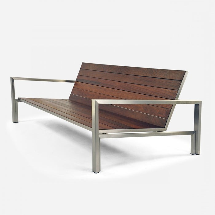 Case Study Furniture® Stainless Couch - Brazilian Walnut