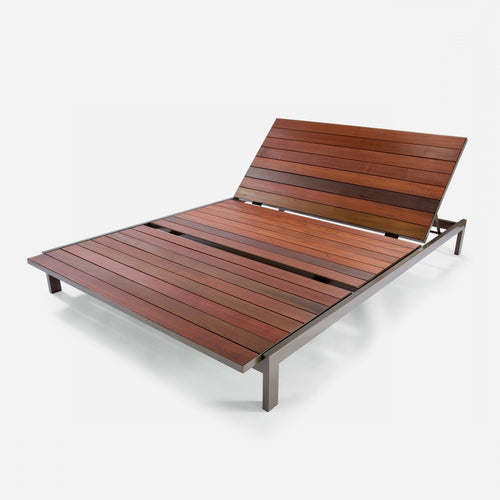 Case Study Furniture® Stainless Double Chaise - Brazilian Walnut