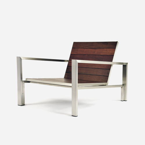 Case Study®Stainless Lounge Chair - Wood