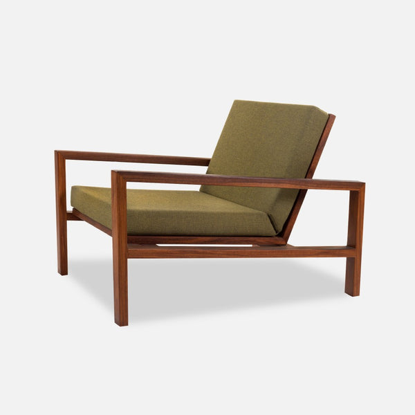 Case Study Furniture® Teak Lounge Chair   Upholstered
