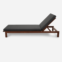 Case Study® Furniture Solid Wood Chaise - Upholstered