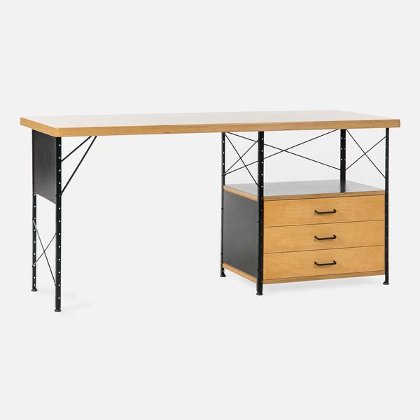 Case Study Furniture® Desk with 3 Drawer and Fiberglass Panels