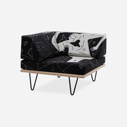 Cleon Peterson V-Leg Daybed Corner Section - Land of Shadows - PRE-ORDER Limited to 50