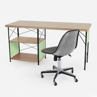 Case Study® Furniture Desk / Side Shell Upholstered Rolling Bundle Pack