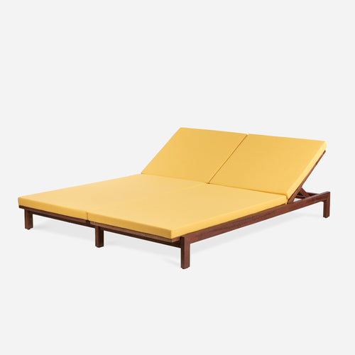 Case Study® Furniture Solid Wood Double Chaise - Upholstered