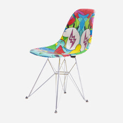 Modernica x SpongeBob x Louis De Guzman x J Balvin Case Study Furniture® Side Shell Eiffel Fiberglass Chair - Multi Color