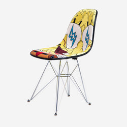 Modernica x SpongeBob x Louis De Guzman x J Balvin Case Study Furniture® Side Shell Eiffel Upholstered Chair - Yellow