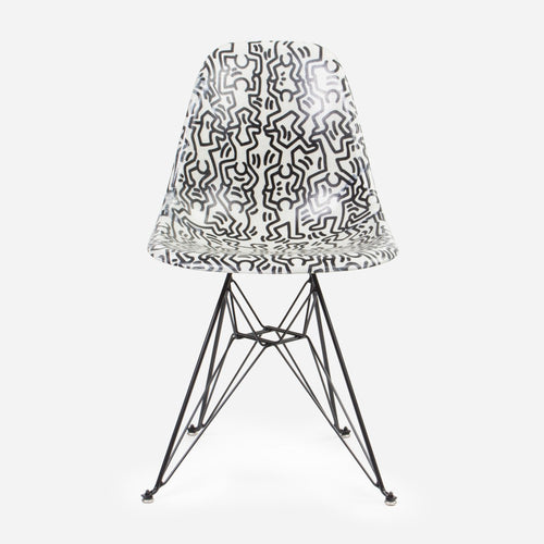 Keith Haring Case Study Furniture® Side Shell Eiffel Chair - Figures
