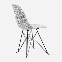 Keith Haring Case Study® Furniture Side Shell Eiffel Chair - Faces