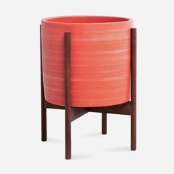 Ceramic Blood Orange Wood Stand