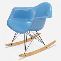 Maple Rocker - Black Wire Baby Blue