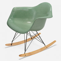 Maple Rocker - Black Wire Jadeite