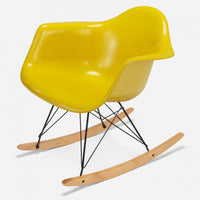 Maple Rocker - Black Wire Sunflower Yellow