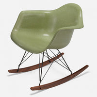 Walnut Rocker - Black Wire Celery