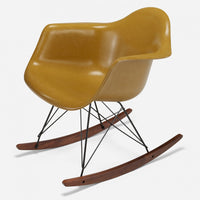 Walnut Rocker - Black Wire Mustard
