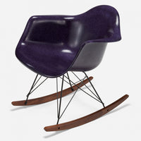 Walnut Rocker - Black Wire Purple