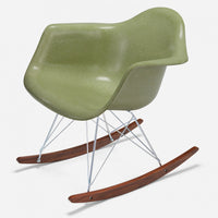 Walnut Rocker - Zinc Wire Celery