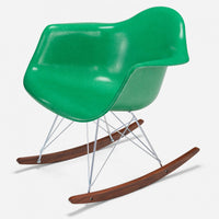 Walnut Rocker - Zinc Wire Grass Green