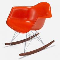 Walnut Rocker - Zinc Wire Orange
