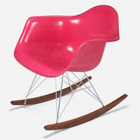 Walnut Rocker - Zinc Wire PSA Magenta