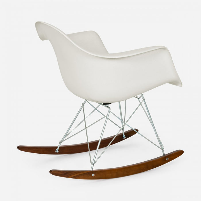 Walnut Rocker - Zinc Wire White