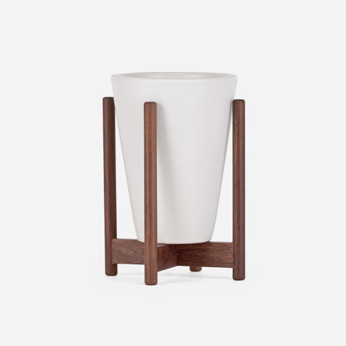 Ceramic White Wood Stand