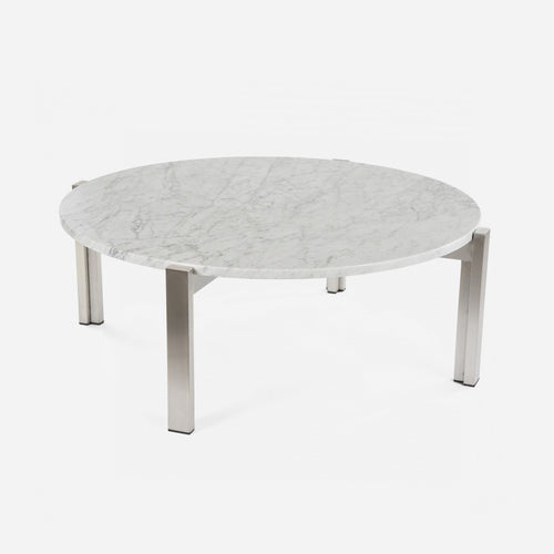 Case Study Furniture® Stainless Floating Marble Coffee Table